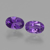 thumb image of 0.8ct Oval Facet Violet Amethyst (ID: 427428)