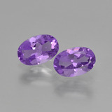 thumb image of 0.8ct Oval Facet Violet Amethyst (ID: 427435)