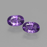 thumb image of 0.8ct Oval Facet Violet Amethyst (ID: 427495)