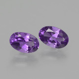 thumb image of 0.8ct Oval Facet Violet Amethyst (ID: 427609)