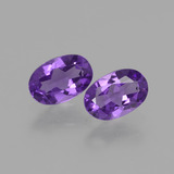 thumb image of 0.8ct Oval Facet Violet Amethyst (ID: 427611)