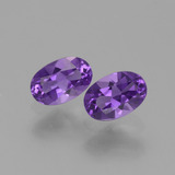 thumb image of 0.8ct Oval Facet Violet Amethyst (ID: 427785)
