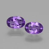 thumb image of 0.8ct Oval Facet Violet Amethyst (ID: 427786)