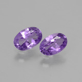 thumb image of 0.8ct Oval Facet Violet Amethyst (ID: 427929)