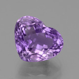 thumb image of 4.6ct Heart Facet Violet Amethyst (ID: 435794)