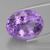 thumb image of 27.2ct Oval Facet Violet Amethyst (ID: 439444)