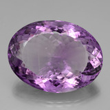thumb image of 70.3ct Oval Portuguese-Cut Violet Amethyst (ID: 439489)