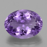 thumb image of 16.1ct Oval Facet Violet Amethyst (ID: 439523)