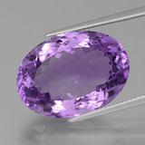thumb image of 16.7ct Oval Facet Violet Amethyst (ID: 439573)