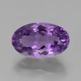 thumb image of 5.1ct Oval Facet Violet Amethyst (ID: 439814)