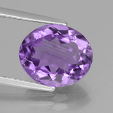 thumb image of 3.8ct Oval Facet Violet Amethyst (ID: 442087)