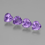 thumb image of 2.4ct Heart Facet Violet Amethyst (ID: 443511)