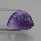 thumb image of 12.6ct Carved Fish Violet Amethyst (ID: 446274)