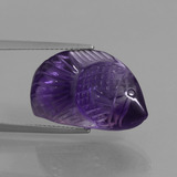 thumb image of 13.4ct Carved Fish Violet Amethyst (ID: 446278)