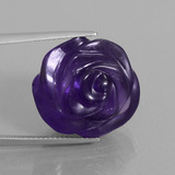 thumb image of 24.2ct Carved Flower Violet Amethyst (ID: 446315)