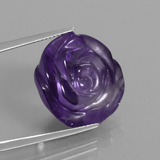 thumb image of 20.5ct Carved Flower Violet Amethyst (ID: 446316)