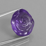 thumb image of 17.5ct Carved Flower Violet Amethyst (ID: 446319)