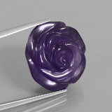 thumb image of 20.7ct Carved Flower Violet Amethyst (ID: 446322)