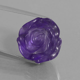 thumb image of 19.1ct Carved Flower Violet Amethyst (ID: 446326)