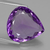 thumb image of 8.7ct Pear Facet Violet Amethyst (ID: 446341)