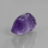 thumb image of 15.4ct Carved Fish Violet Amethyst (ID: 446389)