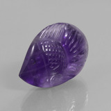 thumb image of 16.5ct Carved Fish Violet Amethyst (ID: 446390)