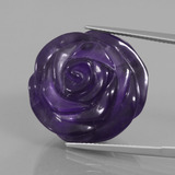 thumb image of 40ct Carved Rose Violet Amethyst (ID: 446394)