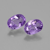 thumb image of 0.7ct Oval Facet Violet Amethyst (ID: 448779)