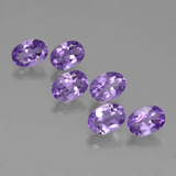 thumb image of 0.6ct Oval Facet Violet Amethyst (ID: 449124)