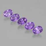 thumb image of 3.7ct Oval Facet Violet Amethyst (ID: 449461)
