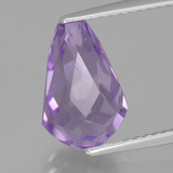 thumb image of 3.8ct Half-Drilled Briolette Violet Amethyst (ID: 456836)