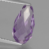 thumb image of 3ct Half-Drilled Briolette Orchid Amethyst (ID: 456864)