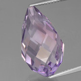 thumb image of 14.6ct Half-Drilled Briolette Violet Amethyst (ID: 456926)