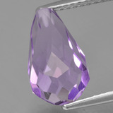 thumb image of 3.7ct Half-Drilled Briolette Violet Amethyst (ID: 457024)
