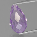 thumb image of 5.5ct Half-Drilled Briolette Violet Amethyst (ID: 457131)