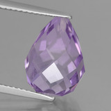 thumb image of 7ct Half-Drilled Briolette Violet Amethyst (ID: 457158)