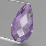 thumb image of 8.6ct Half-Drilled Briolette Violet Amethyst (ID: 457159)