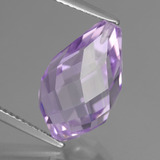 thumb image of 7.7ct Half-Drilled Briolette Violet Amethyst (ID: 457160)