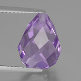 thumb image of 7ct Half-Drilled Briolette Violet Amethyst (ID: 457161)