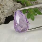 thumb image of 7.1ct Half-Drilled Briolette Violet Amethyst (ID: 457162)