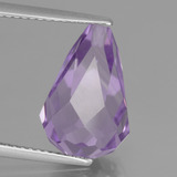 thumb image of 7.3ct Half-Drilled Briolette Violet Amethyst (ID: 457165)