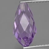 thumb image of 3.1ct Half-Drilled Briolette Violet Amethyst (ID: 457202)