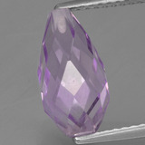 thumb image of 3.2ct Half-Drilled Briolette Violet Amethyst (ID: 457243)