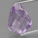 thumb image of 3.1ct Half-Drilled Briolette Violet Amethyst (ID: 457249)