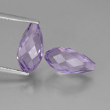 thumb image of 5.7ct Half-Drilled Briolette Violet Amethyst (ID: 457268)