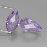 thumb image of 12.4ct Half-Drilled Briolette Violet Amethyst (ID: 457269)