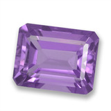 thumb image of 2.5ct Octagon Step Cut Violet Amethyst (ID: 457826)