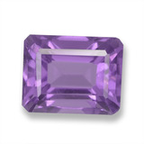 thumb image of 2.8ct Octagon Step Cut Violet Amethyst (ID: 457830)