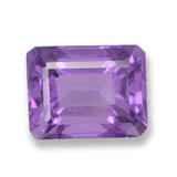 thumb image of 2.9ct Octagon Step Cut Violet Amethyst (ID: 457833)