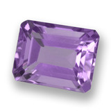 thumb image of 2.5ct Octagon Step Cut Violet Amethyst (ID: 457992)